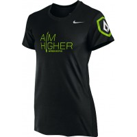 St. Stephen's Academy 14: Nike Women's Legend Short-Sleeve Training Top with Aim Higher Logos - Black