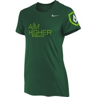 St. Stephen's Academy 17: Nike Women's Legend Short-Sleeve Training Top with Aim Higher Logos - Green