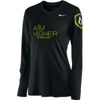 St. Stephen's Academy 22: Nike Women's Legend Long-Sleeve Training Top with Aim Higher Logos - Black