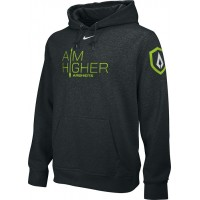 St. Stephen's Academy 06: Adult-Size - Nike Team Club Men's Fleece Training Hoodie with Aim Higher Logos - Black