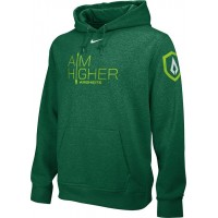 St. Stephen's Academy 09: Adult-Size - Nike Team Club Men's Fleece Training Hoodie with Aim Higher Logos - Green