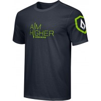 St. Stephen's Academy 18: Adult-Size - Nike Combed Cotton Core Crew T-Shirt with Aim Higher Logos - Black