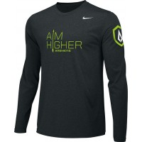 St. Stephen's Academy 20: Adult-Size - Nike Team Legend Long-Sleeve Crew T-Shirt with Aim Higher Logos - Black