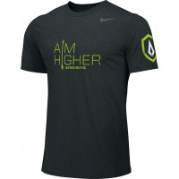 St. Stephen's Academy 12: Adult-Size - Nike Team Legend Short-Sleeve Crew T-Shirt with Aim Higher Logos - Black