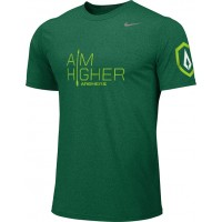 St. Stephen's Academy 15: Adult-Size - Nike Team Legend Short-Sleeve Crew T-Shirt with Aim Higher Logos - Green